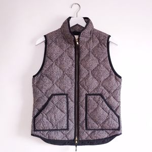 J. Crew Herringbone Pattern Puffer Vest